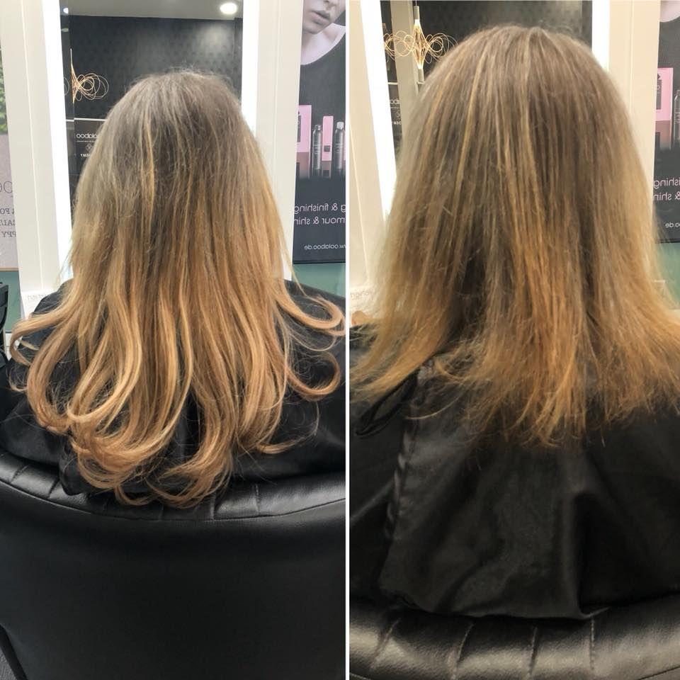 Mit Hairtalk Extensions Wieder Einer Dame Den Langjahrigen Traum Von Langen Und Vollem Haar Erfullt Eingearbeitet Wurde Volleres Haar Haarverlangerung Haare