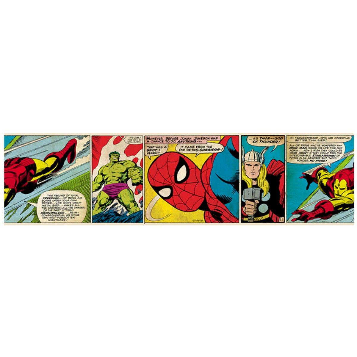 Marvel Comics Self Adhesive Wallpaper Border Marvel