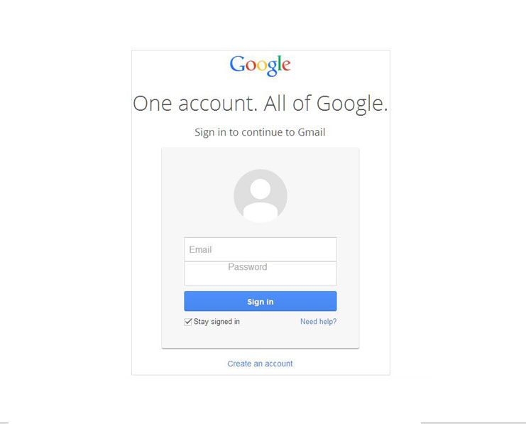 Gmail email login page delete old details login page