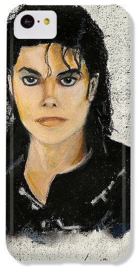 Michael Jackson IPhone 5c Case featuring the painting Michaeljacksoninoilpastel by Lance Sheridan-Peel