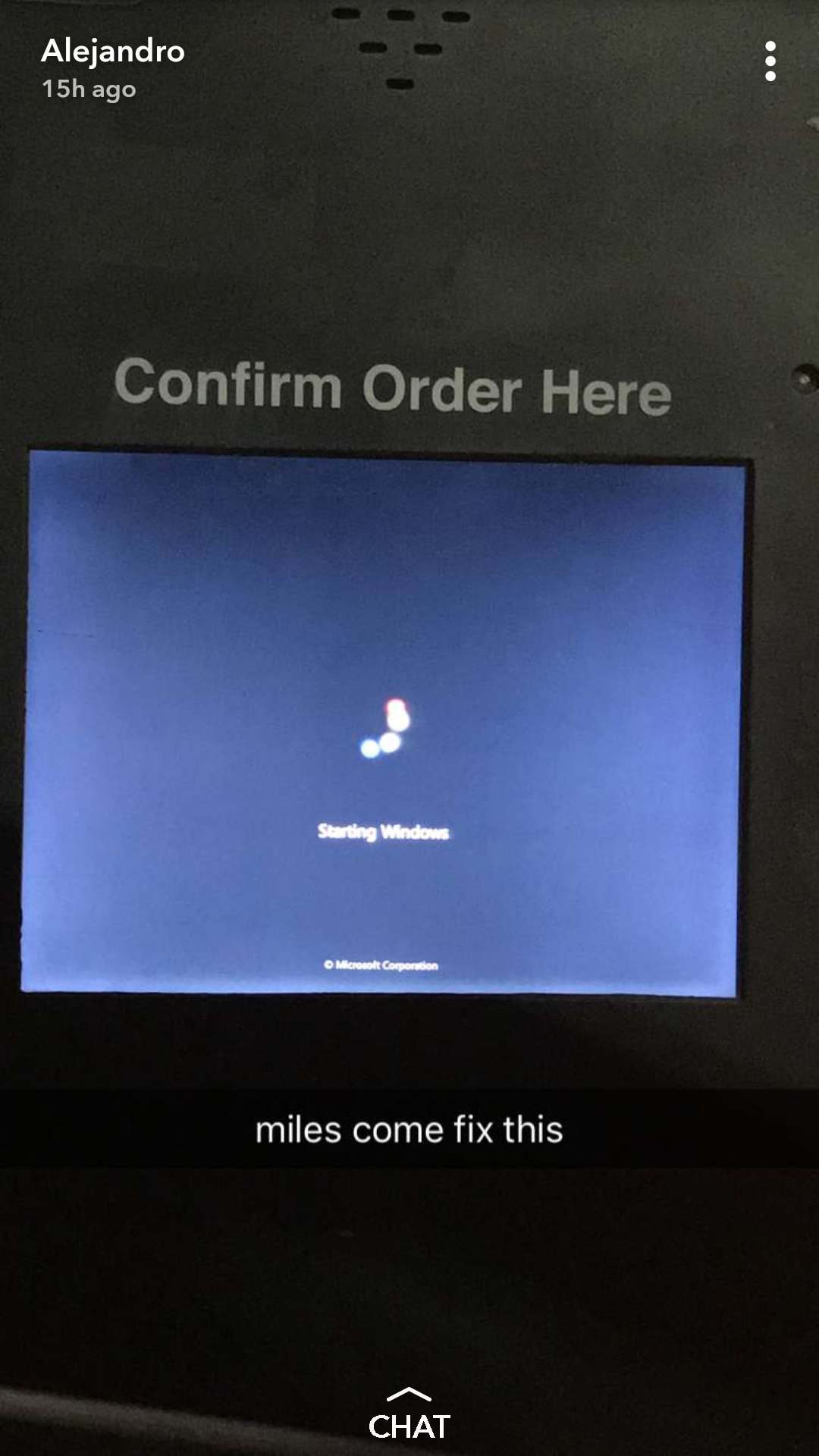 McDonalds POS system goes out bsod pbsod Mcdonalds