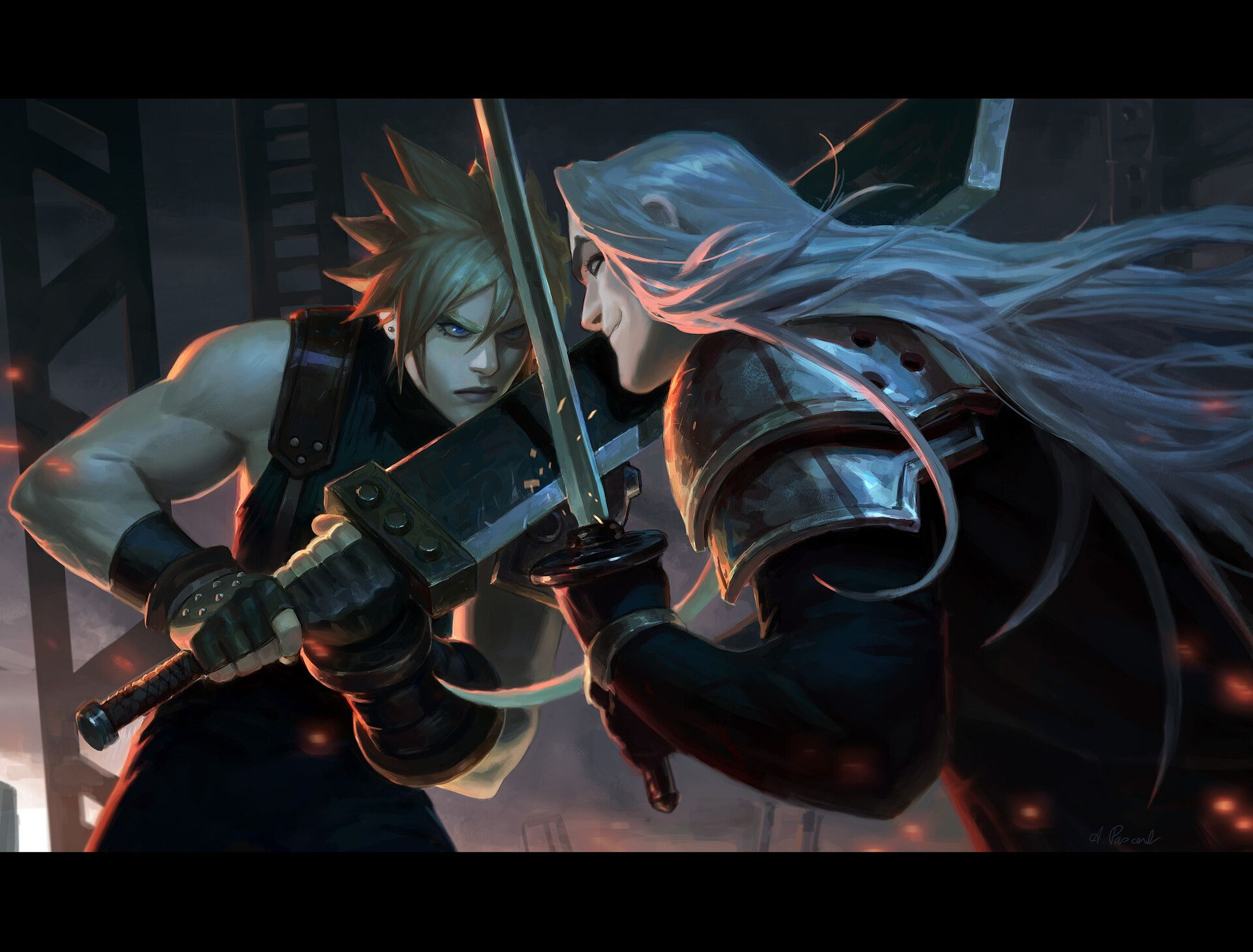 ArtStation cloud vs sephiroth, Alex Pascenko Sephiroth