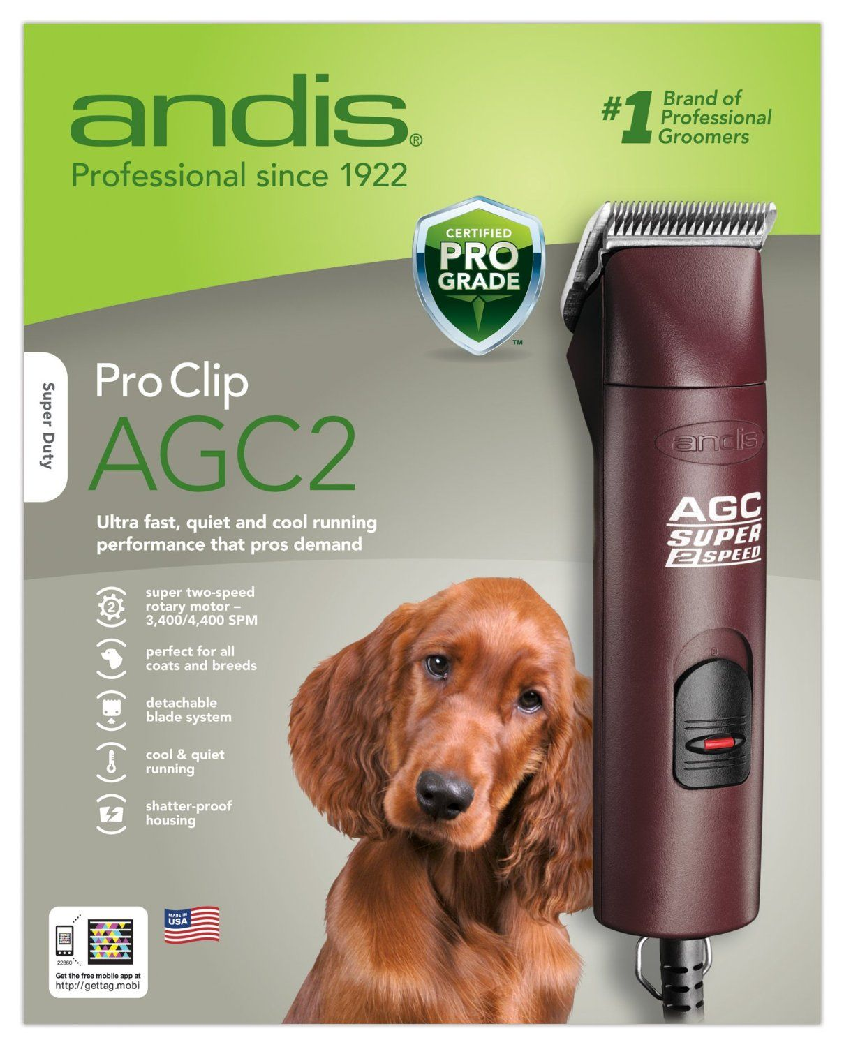 Amazon Com Andis 22360 Agc Super 2 Speed Professional Animal Clipper With Locking Blade Pet Grooming Clipper Dog Clippers Dog Grooming Tools Dog Care Tips