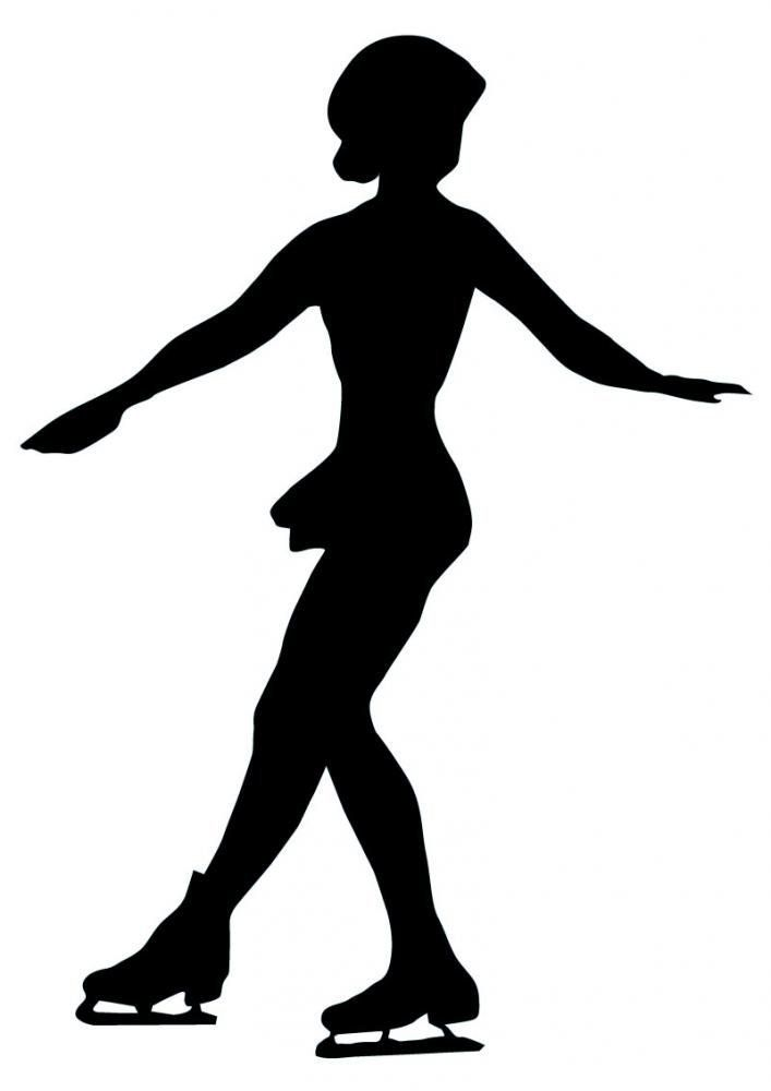 Amazon Com Exercise Wall Decals Ice Skating Silhouette 2 12