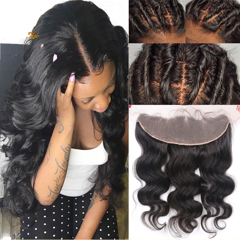 13x4 Ear To Ear Lace Frontal Closure Virgin Human Hair Indian