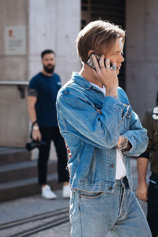 Men In This Town Tumblr F01 In 2019 80s Fashion Men Denim