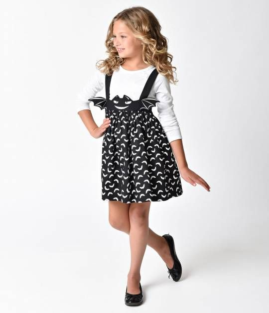 Toddler Baby Girl Cute Black Cat Print Long Sleeve Crewneck Cute Dress Skirt