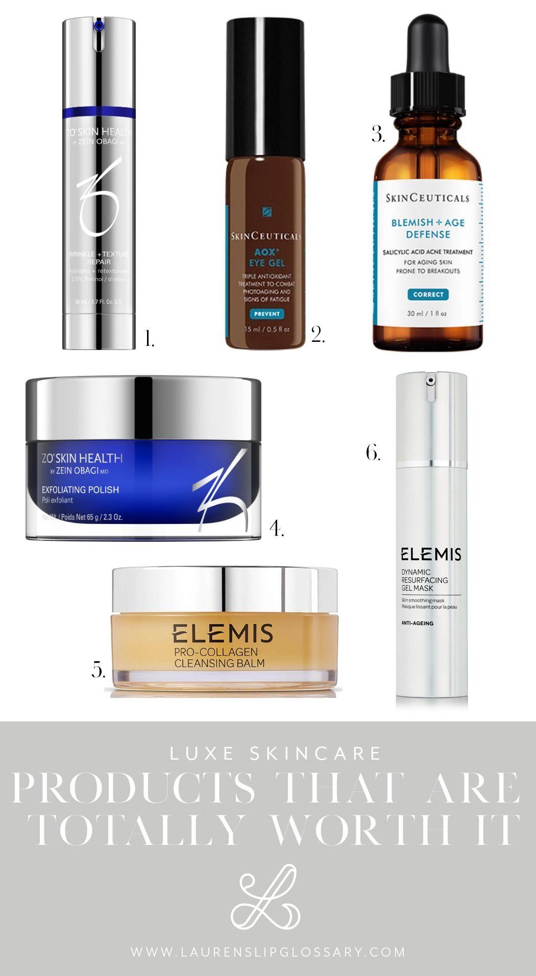 Luxe Skincare Products That Are Totally Worth It Reviews Of Elemis Skinceuticals Zo Skin Health Medical Grad Skin Care Aging Skin Care Diy Skin Treatments