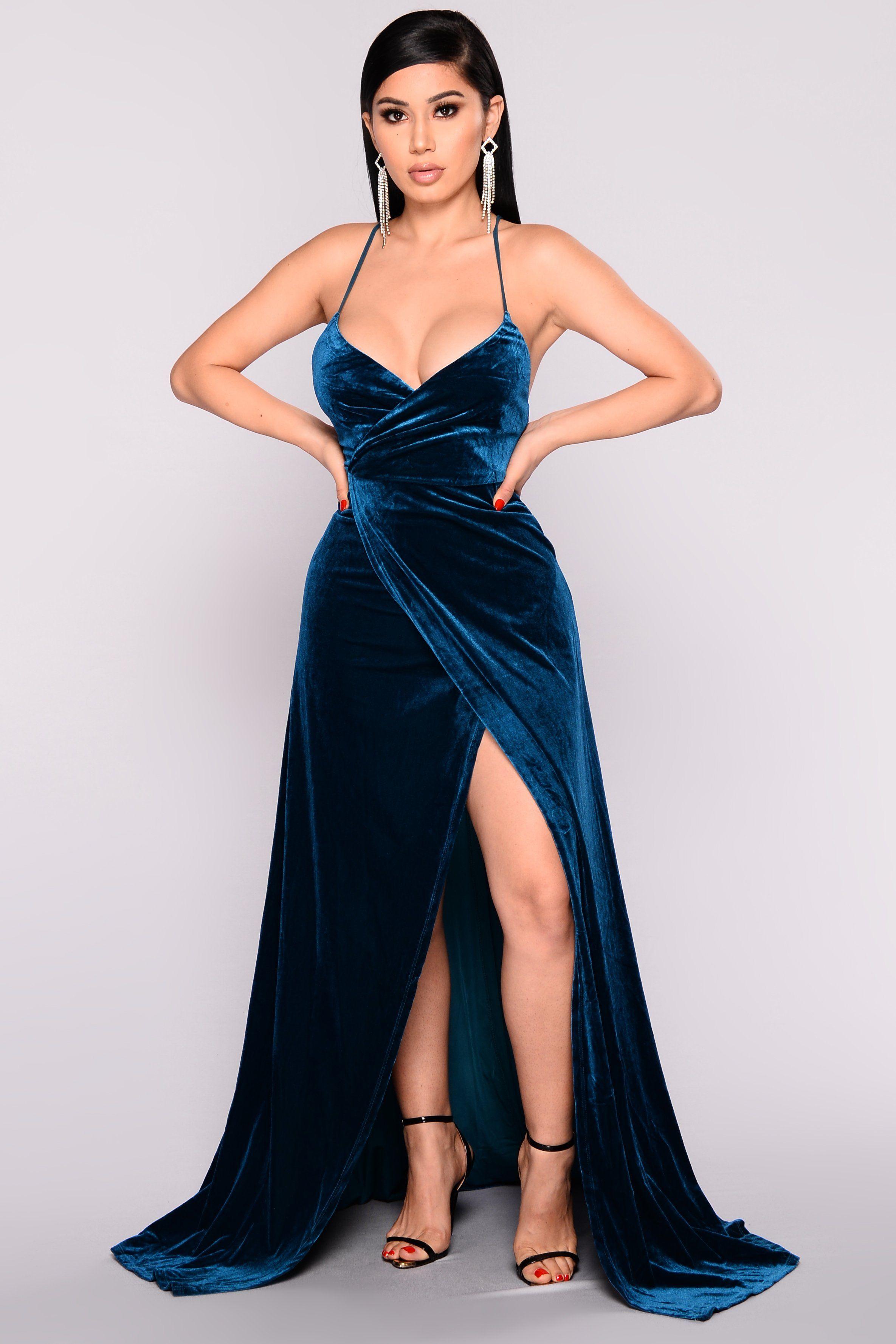 Wishful Thinking Dress Teal Wish List Dresses Hoco Dresses High Slit Dress