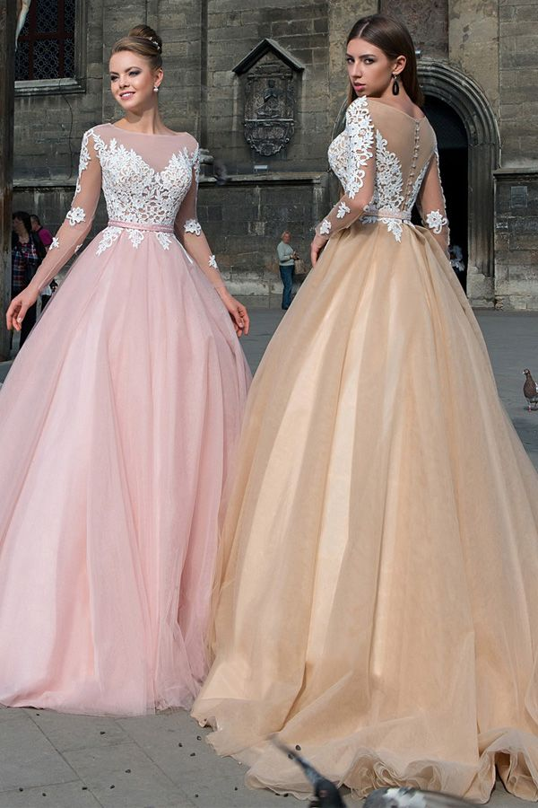 Glorious Tulle Bateau Neckline A-line Prom/Evening Dresses ...