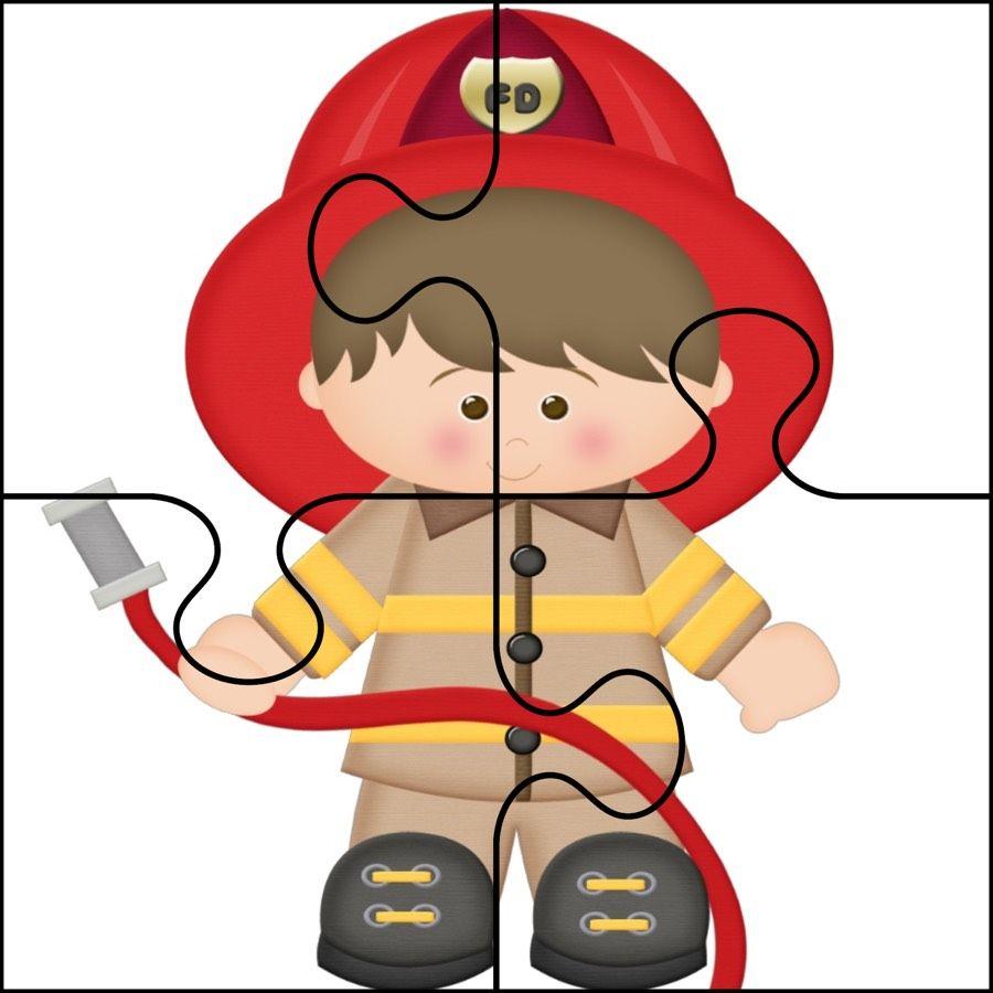 Dzien Strazaka Puzzle Latwe Dzien Strazaka Maj Puzzle Do Wycinania Swieta I Pory Roku Community Helpers Preschool Fire Safety For Kids Preschool Family Theme