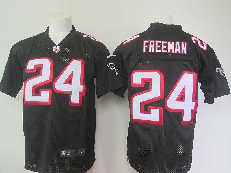 Men's NFL Atlanta Falcons #24 Devonta Freeman Black Elite Jersey