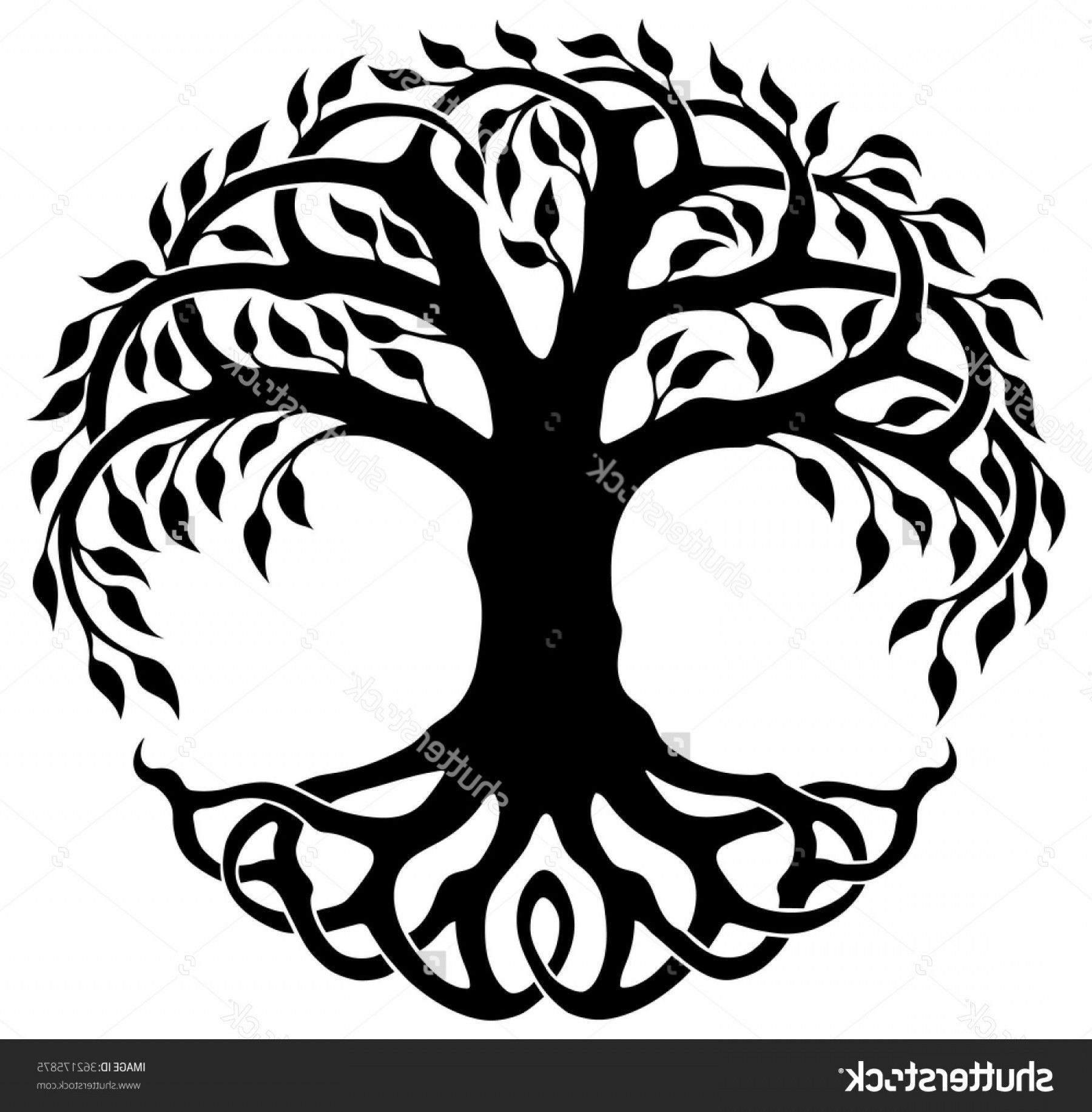 Sacred Tree Of Life Vector Cutting File Svg File Of A
