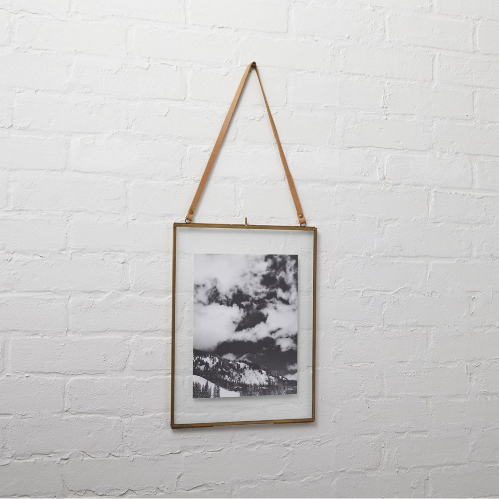 brass floating 8x10 picture frame | Pinterest