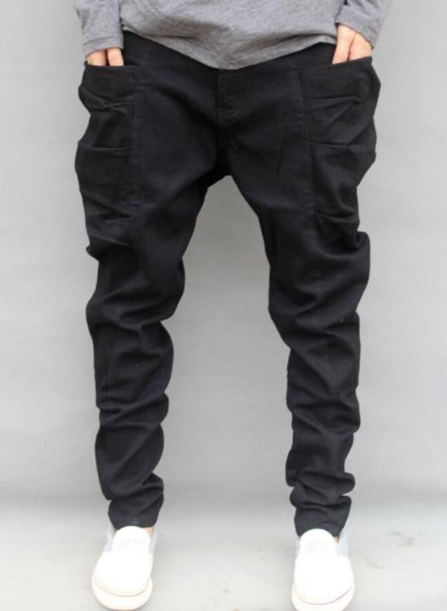 Mens Korean Big Pockets Harem Pants Loose Skateboard Hip Hop Dance Trousers  Y6  Unbranded  HipHop 5b73d648626