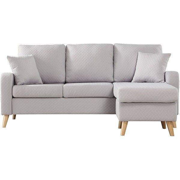 Mid Century Modern Linen Fabric Small Space Sectional Sofa With 4 895 Mxn Li Small Space Sectional Sofa Small Space Sectional Sectional Sofa With Chaise