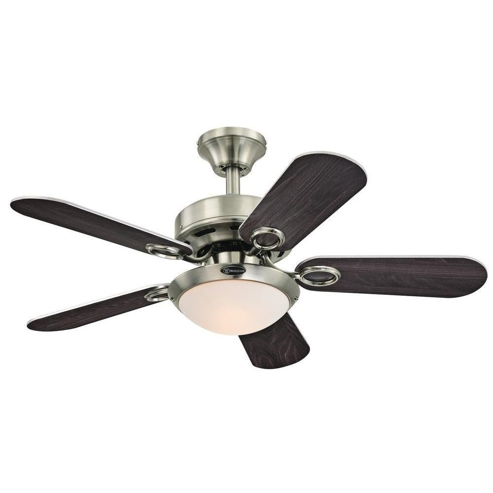 Westinghouse Cassidy 36 In Indoor Brushed Nickel Ceiling Fan Ceiling Fan With Light Brushed Nickel Ceiling Fan Ceiling Fan