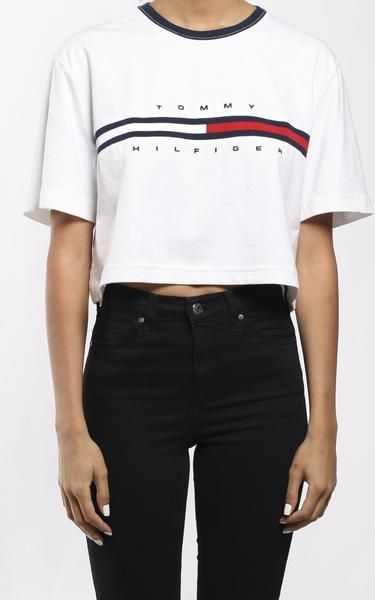 a150292e Vintage Tommy Hilfiger Crop Tee | fashion in 2018 | Pinterest ...