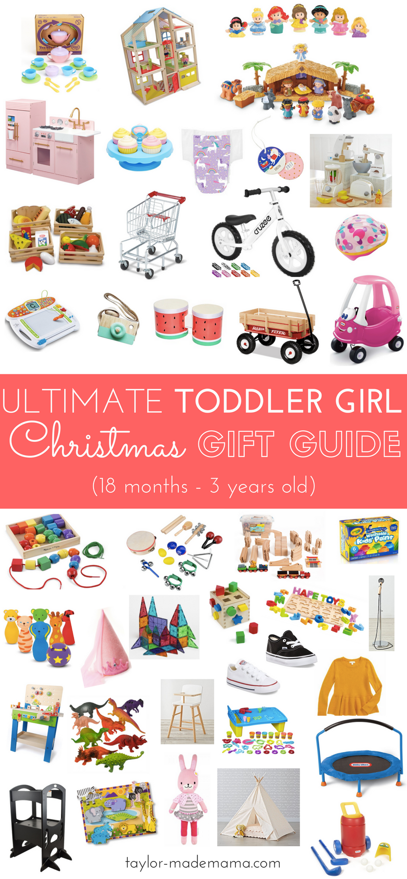 The Ultimate Toddler Girl Gift Guide For Christmas (18 months - 3 ...