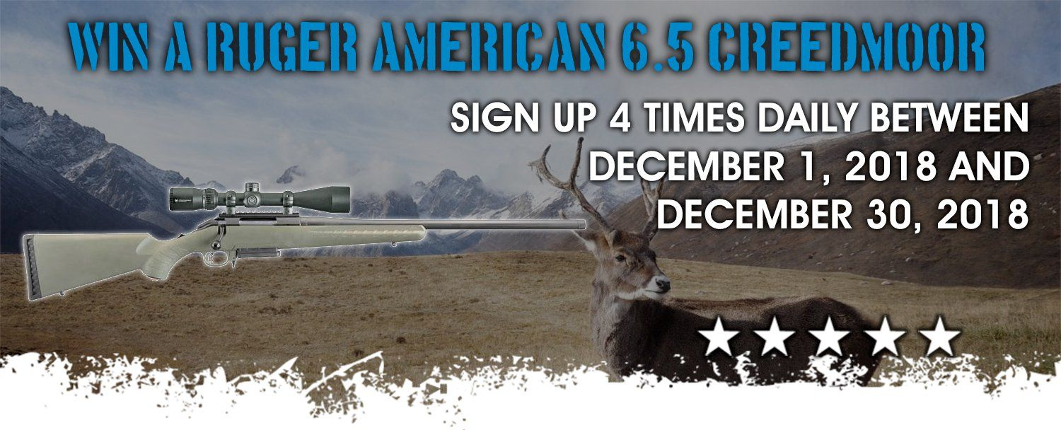 Ruger American 6 5 Creedmoor Rifle + Scope Giveaway | Rifle