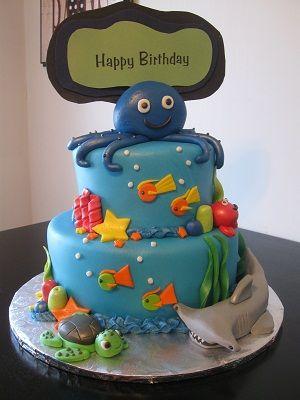 Under The Sea Birthday Cake Ocean Cakes Beach 1st