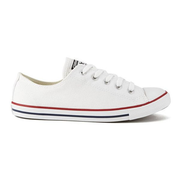 09b593c145c Converse Women s Chuck Taylor All Star Dainty OX Trainers - White ( 70) ❤  liked