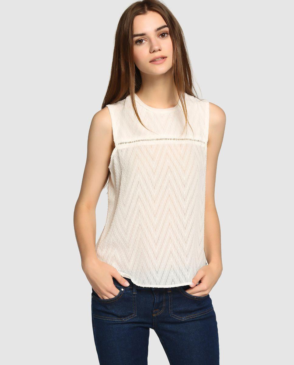 6d59c37c1 Blusa de mujer Pepe Jeans blanca bordada | Moda y Accesorios en 2019 ...