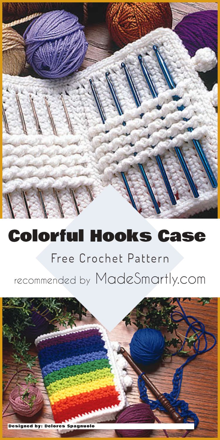 7 Handy Crochet Hook Cases, Baskets And Holders - Free Patterns ...