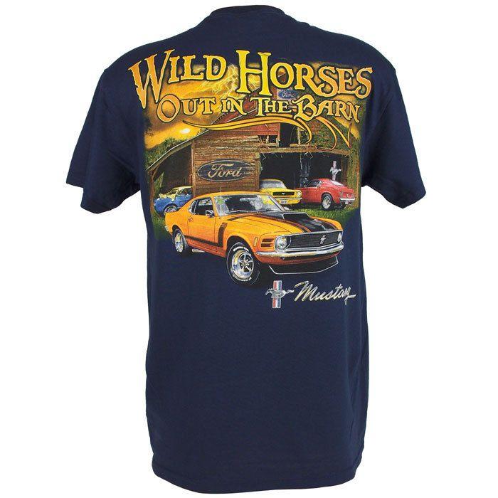 Mens Ford Motors Mustang Tee Classic T Shirt Boss 302 Classic Cars Trucks