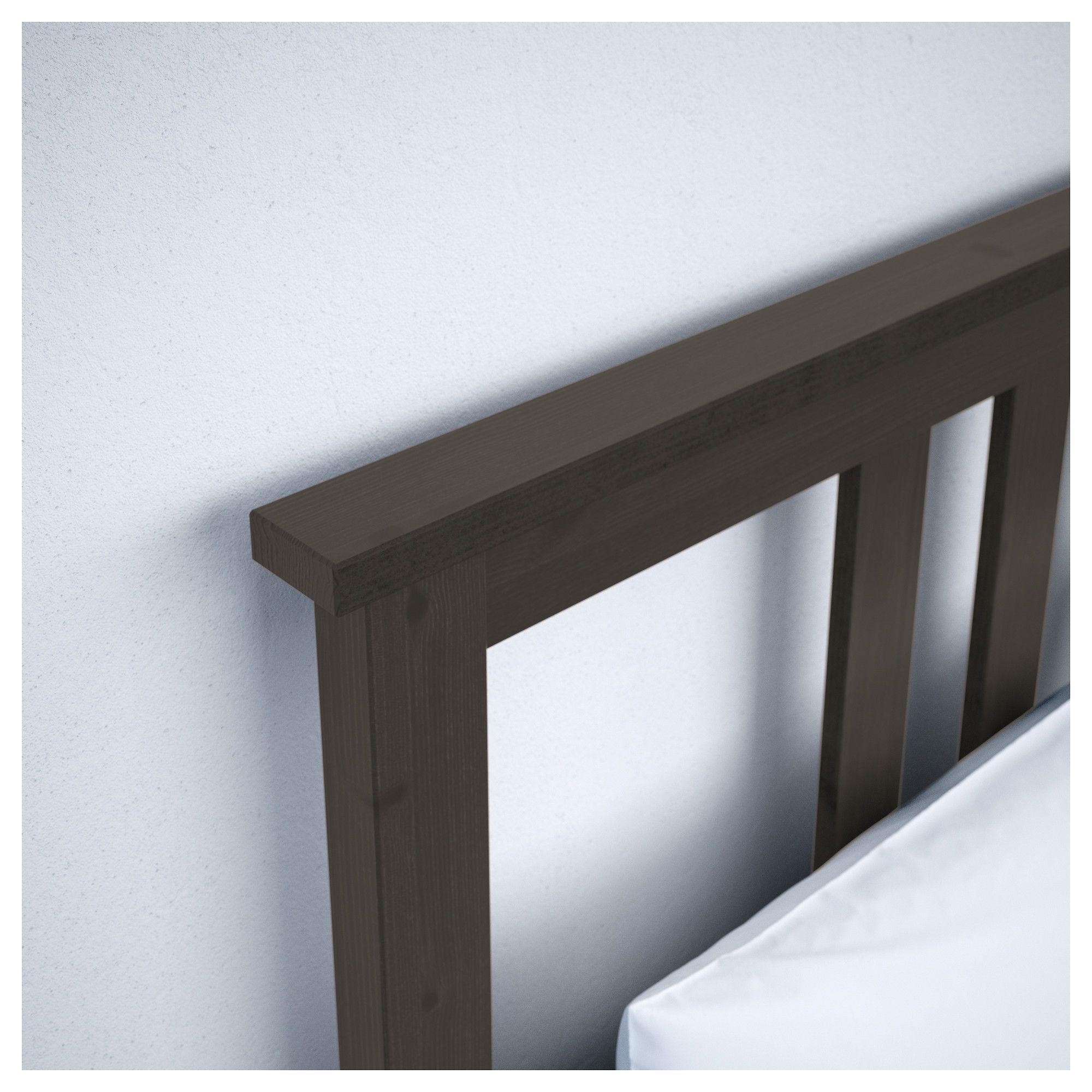 Hemnes Bed Frame With 4 Storage Boxes Black Brown Espevar Products