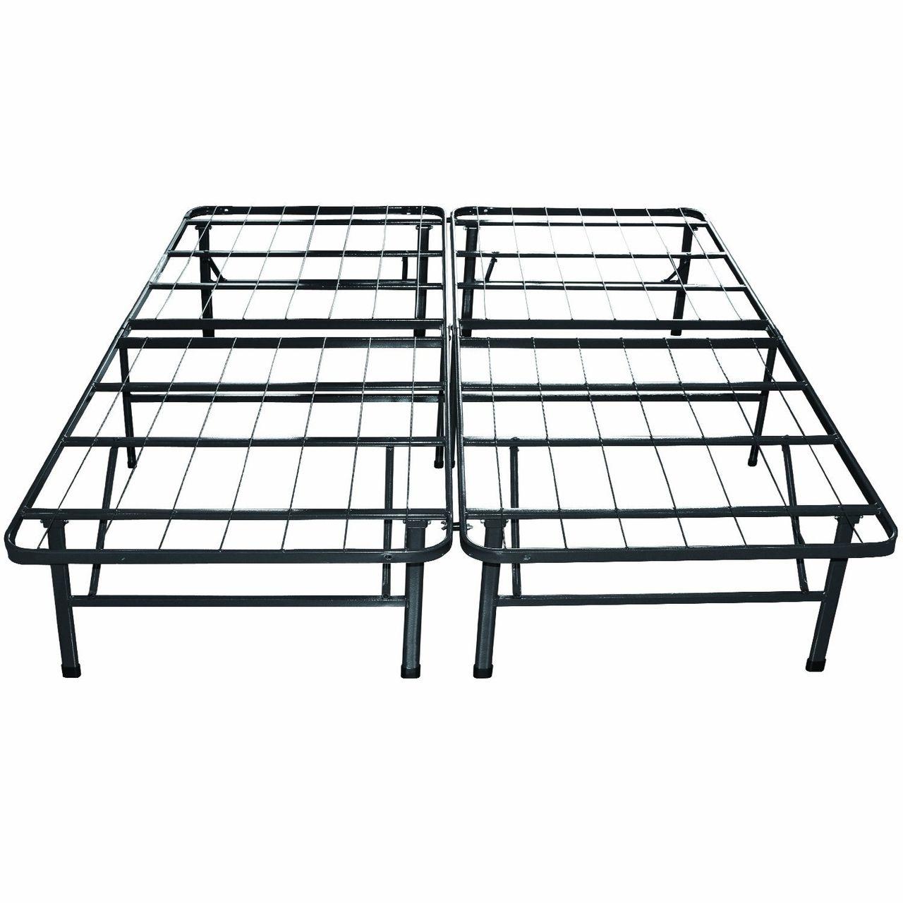 Twin Xl Metal Platform Bed Frame With Storage Space Metal