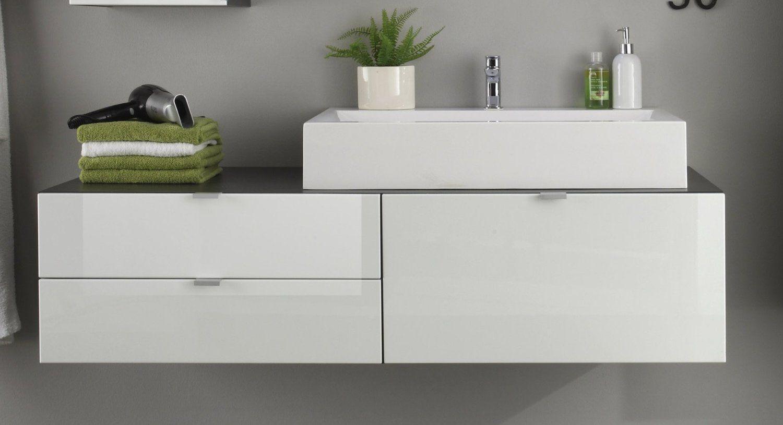 Badezimmer design weiß trendteam bc bad waschbeckenunterschrank inklusive waschbecken