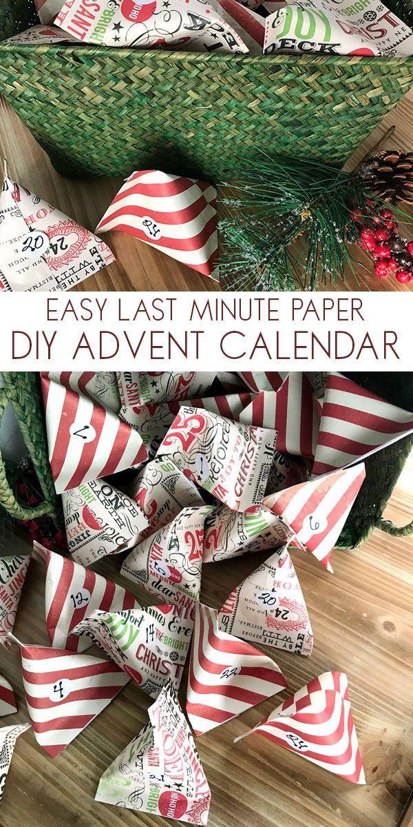 Einfacher DIY Adventskalender von Scrapbook Paper Pockets