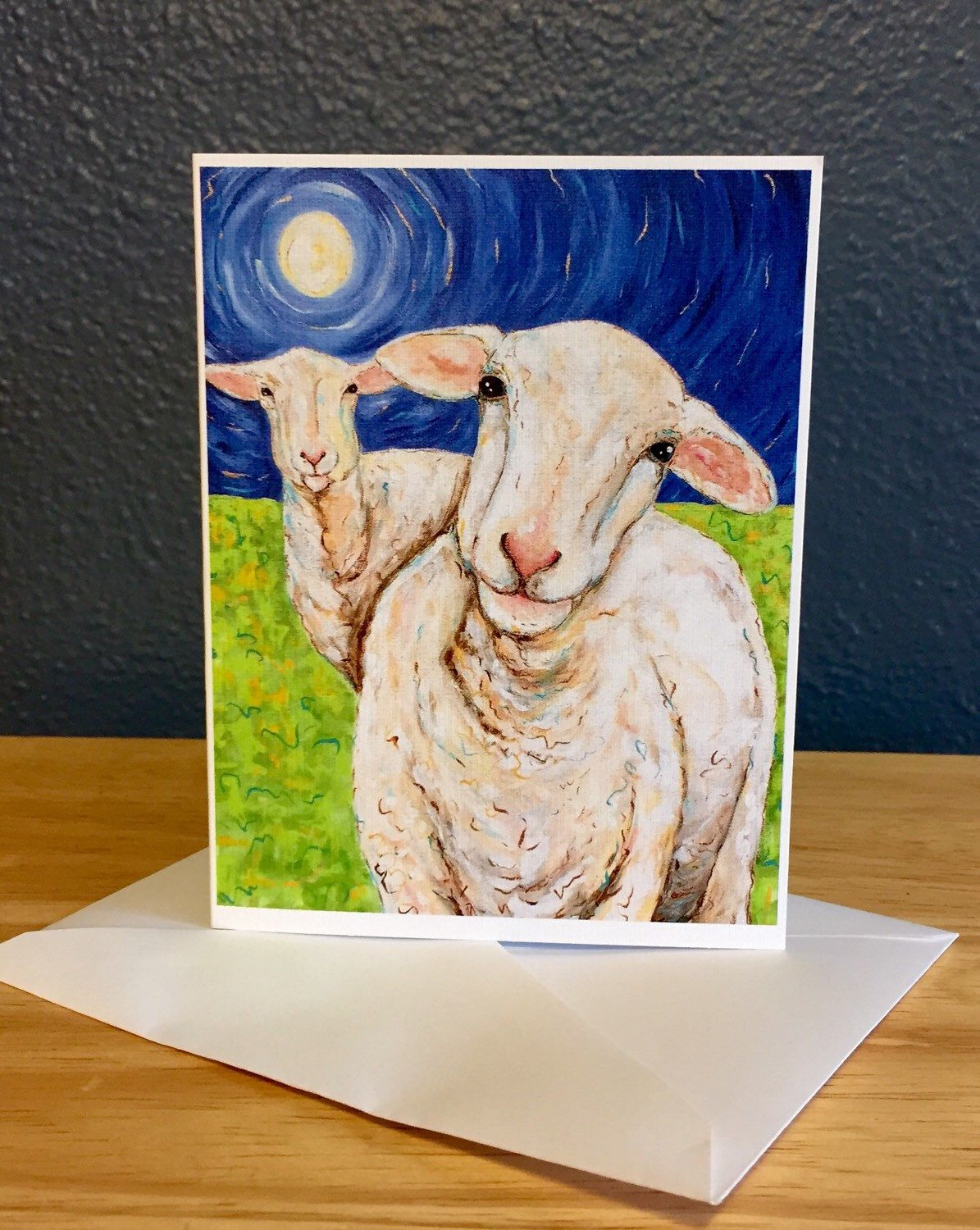 A personal favorite from my Etsy shop https://www.etsy.com/listing/224178337/sheep-blank-note-cards