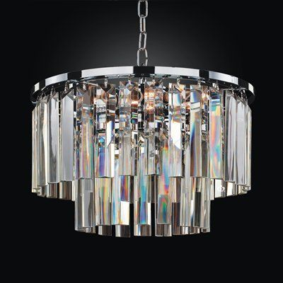 Off timeless chrome 16 inch chandelier by glow lighting