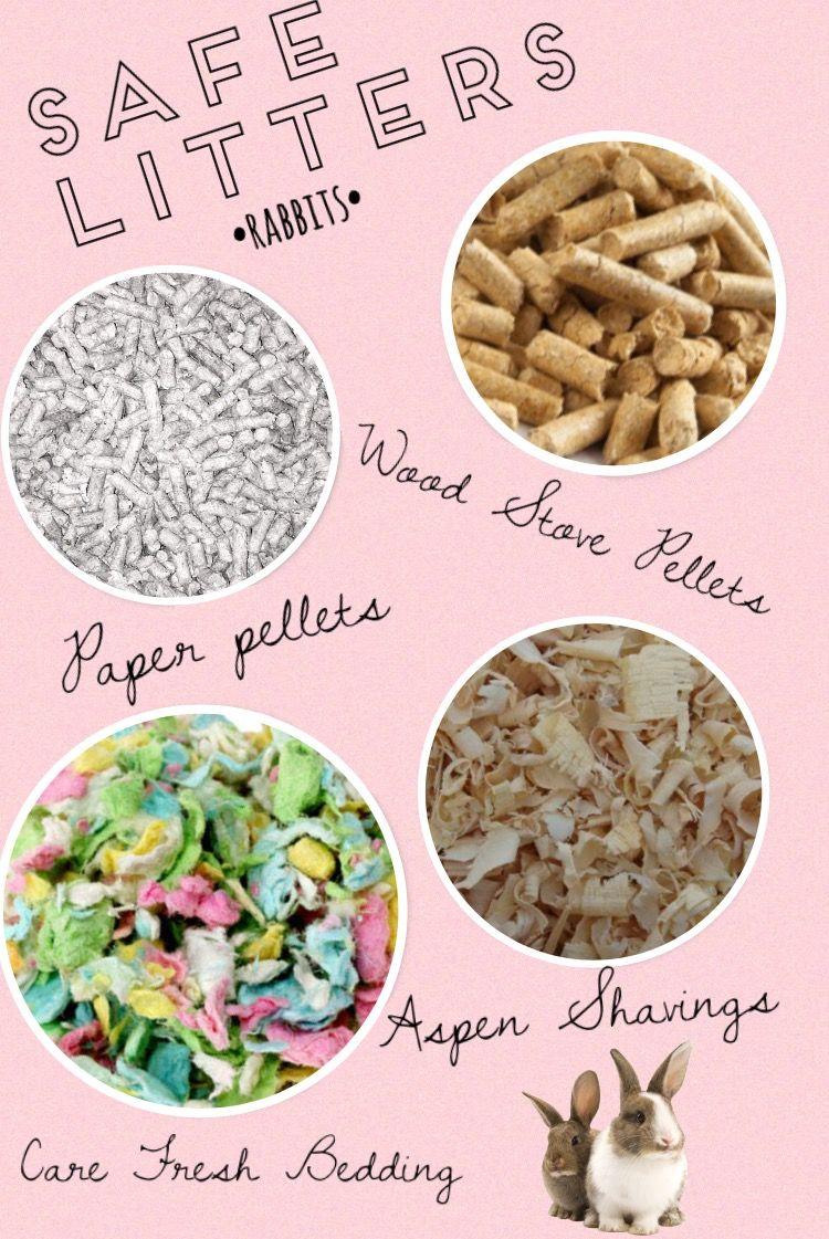 Safe rabbit litters! Paper pellets, wood stove pellets