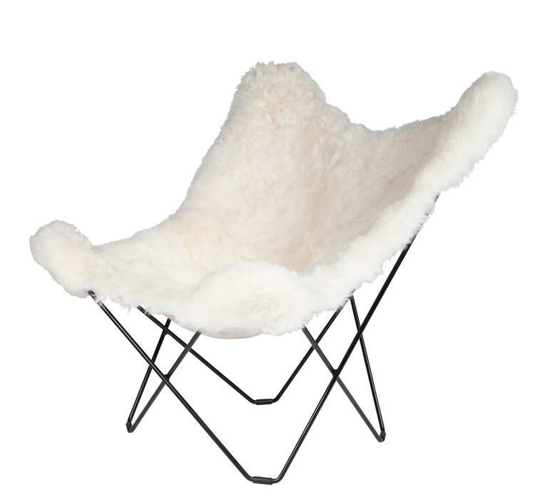 Sheepskin Erfly Chair White Black By Cuero Design