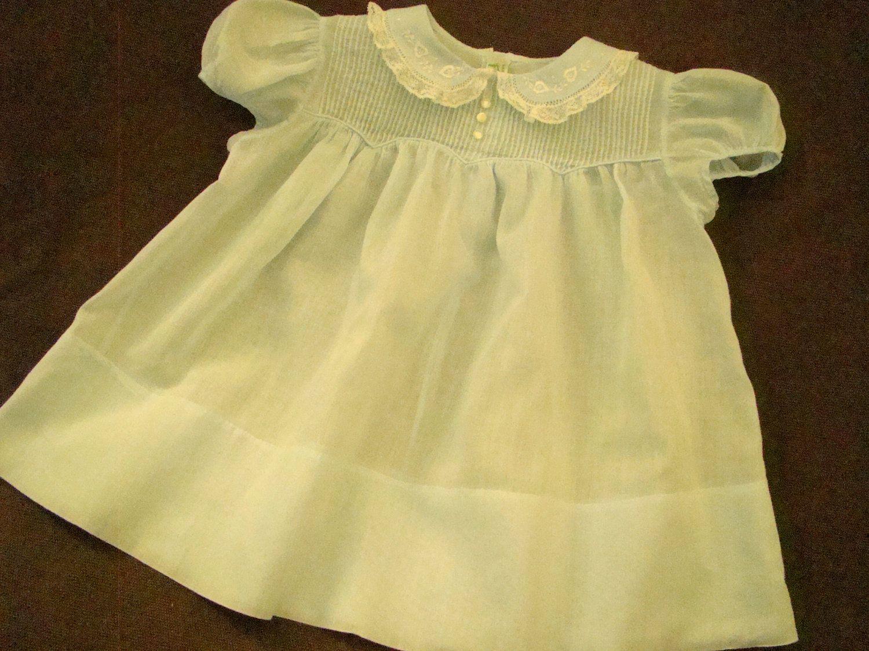 Vintage Blue Feltman Brothers Baby Dress Sweet