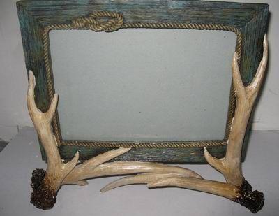 Antler Frame 8 X 10 Rope Trim Oh Deer Pinterest Antlers