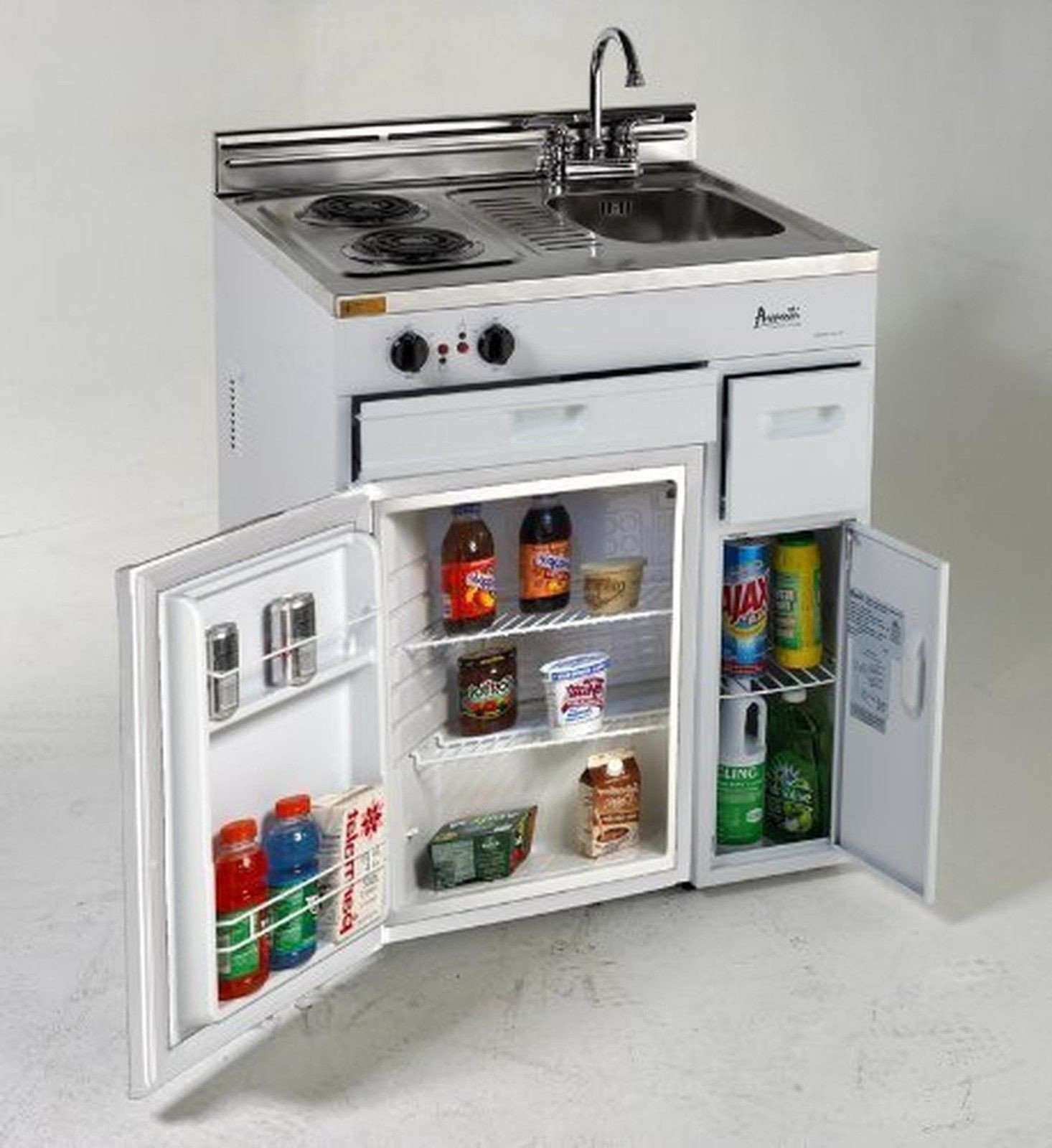 """Avanti Ck3016 30"""" Complete Compact Kitchen With 2.2 Cu. Ft"""