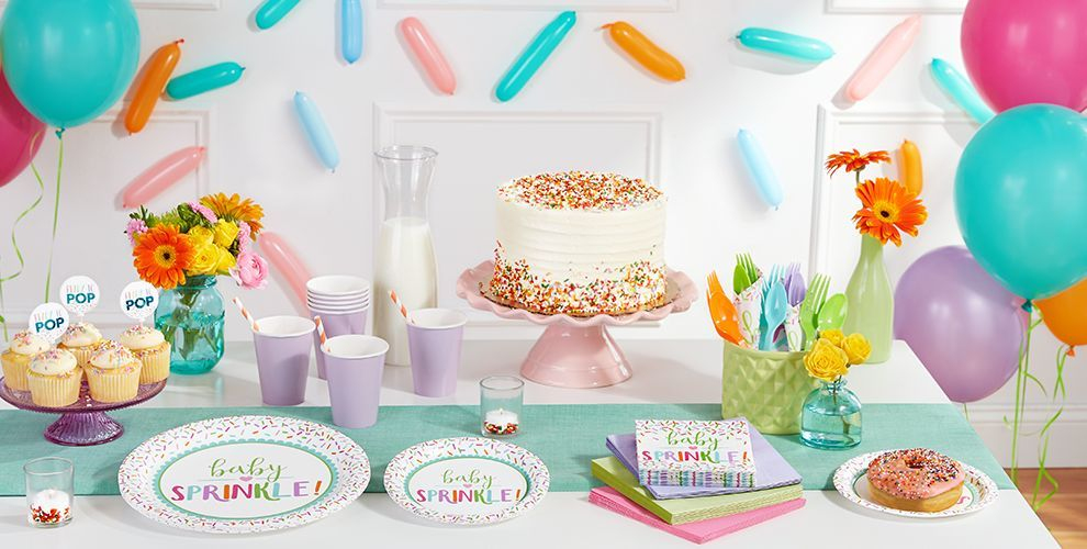 Sprinkle Baby Shower Baby Shower Food Table Display Party