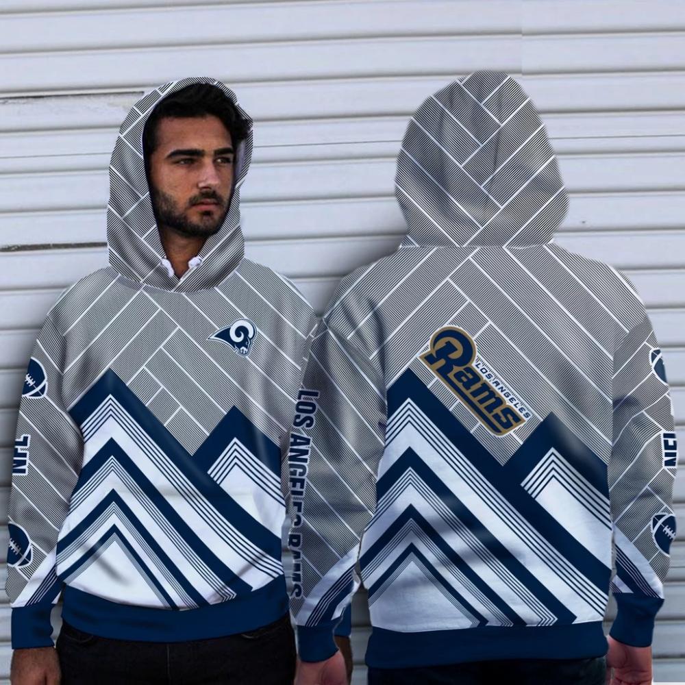 Fashion Cross Line Los Angeles Rams Hoodie [ 1000 x 1000 Pixel ]