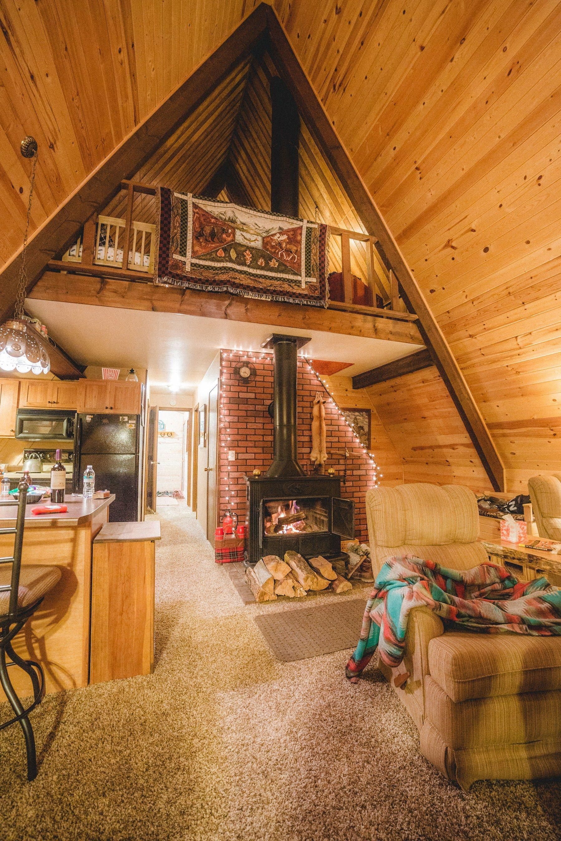 Dempsey Photographed This Stunning A Frame Tiny Home While Traveling In South Dakota Aframehouse In 2020 Tiny House Remodel Diy Tiny House Tiny House Design