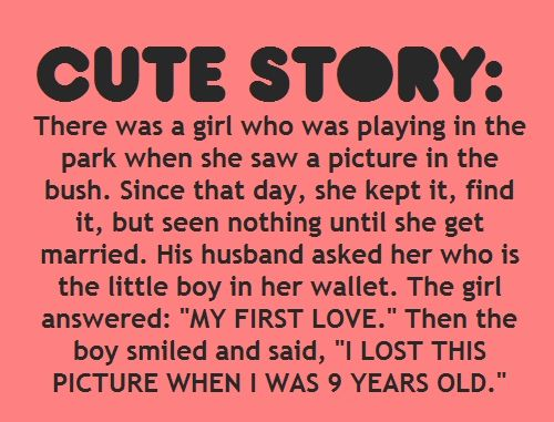 Cute story: There was a girl who was playing in the park when she ...