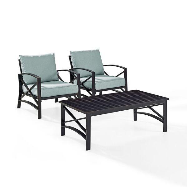 Mist Gray 3 Piece Outdoor Patio Furniture Set Kaplan Patio