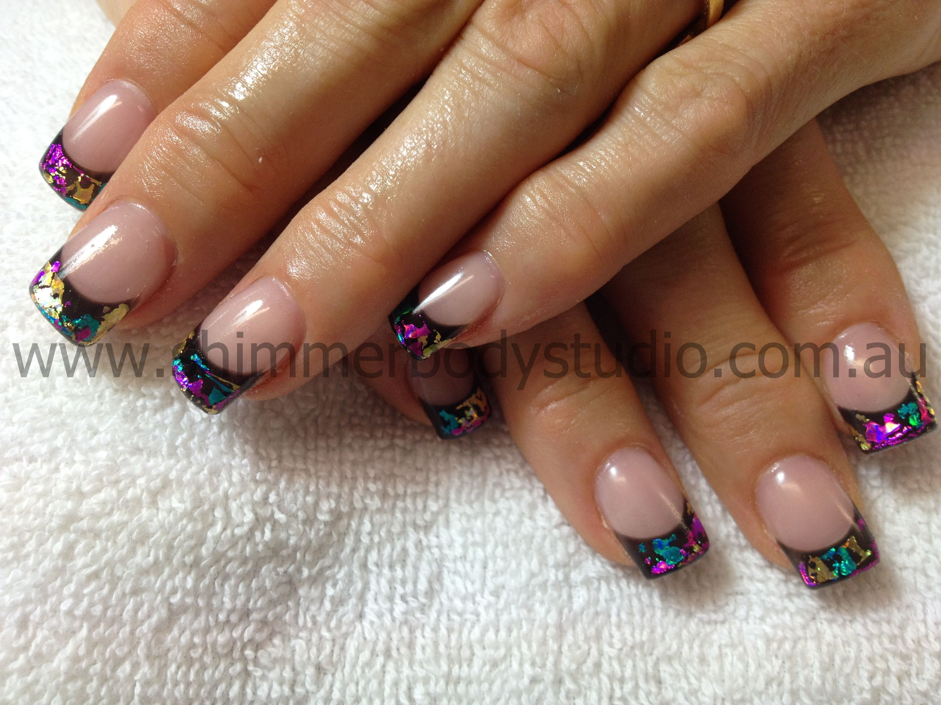 Gel nails, Foil Nail Art, Colourful nails. | Nails | Pinterest ...