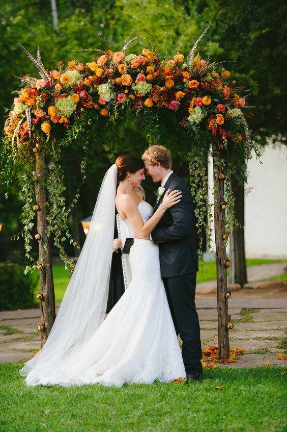 Hochzeitsbogen Als Hintergrund Der Trauung Ceremony Backdrop