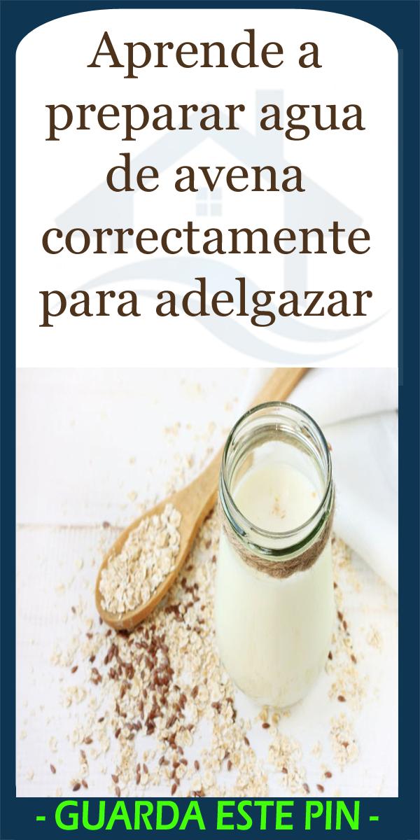 Aprende A Preparar Agua De Avena Correctamente Para Adelgazar Healthy Drinks Detox Drinks Clean Eating