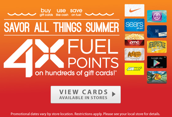 4x Fuelpoints When You Buy Any Gift Card From Kroger Buy As A Gift