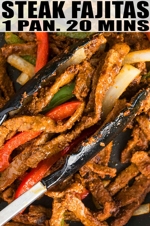 Easy Steak Fajitas Recipe (One Pot) #beeffajitarecipe